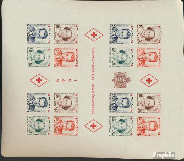 Monaco Monaco Monaco Block3B (complete issue ) 1949 Red Cross