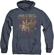 Masters of The Universe Team of Heroes Unisex Adult Pull-Over Heather Hoodie