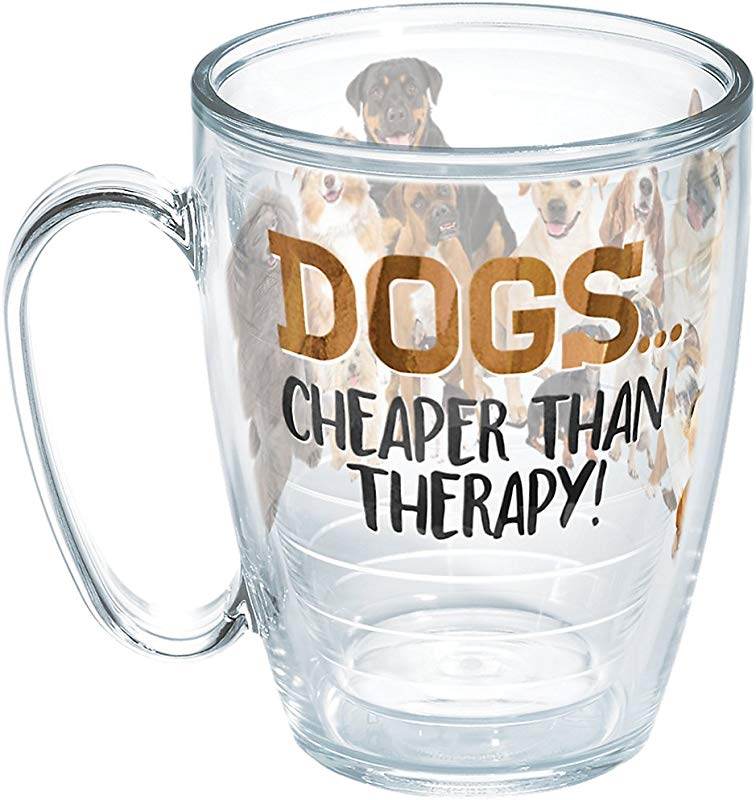 Tervis 1258351 Dog Therapy Insulated Tumbler With Wrap 16oz Mug Clear
