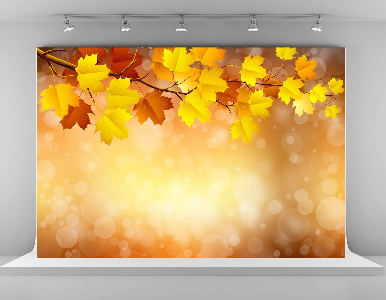 Kate 10x6.5ft Autumn Photography Backdrops Fall Maple Leaves Backgrounds Children Kids Photo Background Microfiber Party Decoration Backdrop for Photoshoot