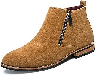 Sunny/&Baby Hommes Chaussures Lacets Rivet D/étail en Cuir Sup/érieur mi-Mollet Bottes de Combat pour Les Messieurs Courir Une Taille Plus Grande R/ésistant /à labrasion