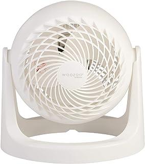 Iris Ohyama - Ventilador de mesa potente y silencioso, ángulo ajustable de 360 ° - Woozoo PCF-HE15 - Blanco, 29,2 x 25,9 x 25,9 cm, Medio