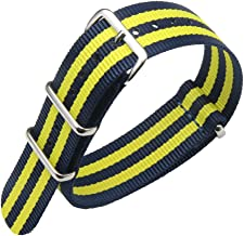 18mm 20mm 22mm 24mm Nylon Watch Strap Luxurious Military Durable Nylon NATO Style Watch Straps Bands Replacements for Men