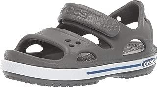 Crocs Kids' Crocband II Toddler Sandal | Water Shoe for Boys and Girls | Slip On Sandal, Bright Cobalt/Charcoal, 2 M US Little Kid