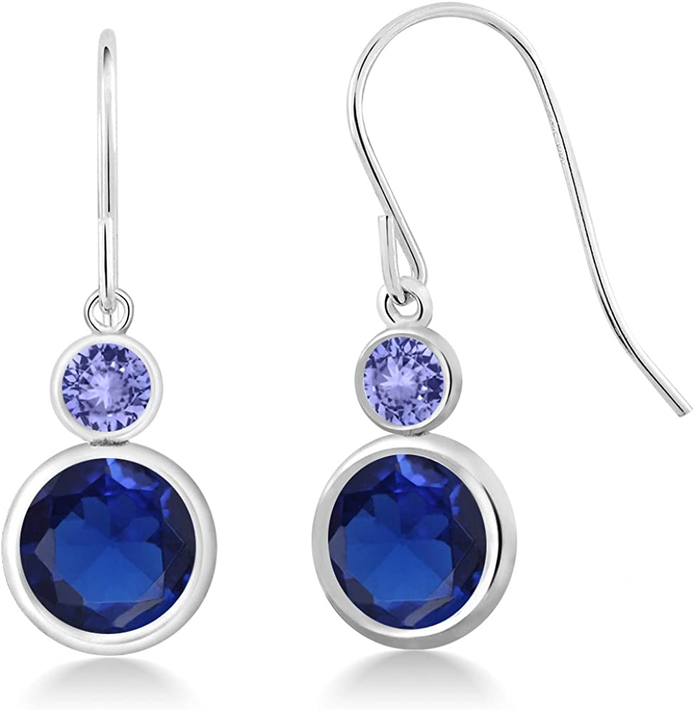 Gem Stone King 4.48 Ct Tanzanit Round Sapphire Blue Created Max 90% Max 48% OFF OFF