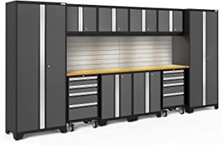 NewAge Products Bold Series Gray 12 Piece Set, Garage Cabinets, 56018