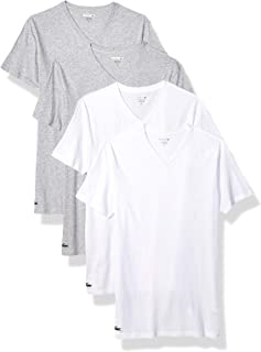 Lacoste Men's Classic Fit Cotton V Neck T-Shirt, 4 Pack