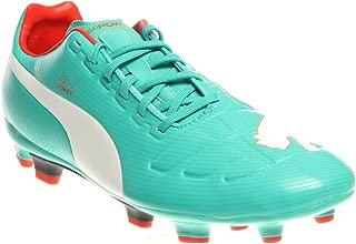 Mens Evopower 3 FG Shoes, Pool Green/White/Grenadine/Turbulence Size 9