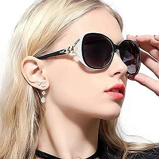 Heptagram偏光 サングラス レディース 小顔 紫外線 UV400カット クラシック ファッション 運転用/旅行 大きい サングラス