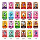 24 Pcs Sanrio NFC Cards for Animal Crossing New Horizons RV Villager Furniture ACNH Card for Switch/Switch Lite/Wii U/New 3DS with Storage Case