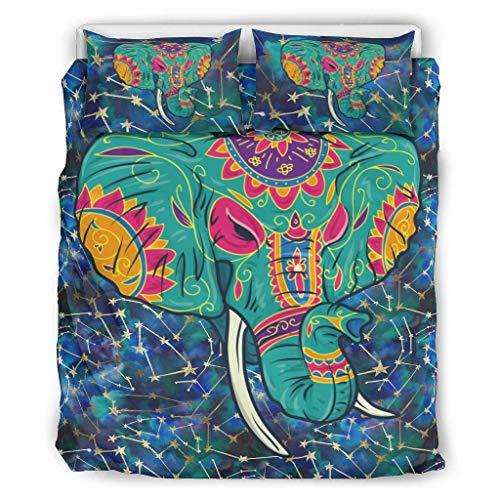 Boji - Juego de fundas de edredón y fundas de almohada (transpirables, cómodas, 3 unidades, para niños y niñas, 104 x 90 pulgadas)