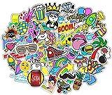 Stickerbombe aufkleber 400 sticker graffiti macbook iphone skateboard vinyl pop art aufkleber Sortiert Sticker Pack Snowboard Gepäck Koffer iPhone Auto Fahrrad Bumper Bomb Pack - Vintage Retro Pop Art