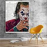 ganlanshu Pintura sin Marco Payaso póster de película Lienzo impresión Comic decoración de la Pared Pintura Sala de Estar póster de películaAY5297 30X45cm