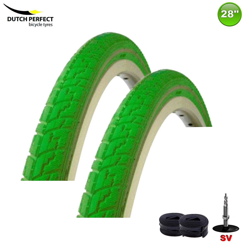 2X Dsi Neumático de la Bicicleta Abrigo Manta 40-635 Color Verde + ...