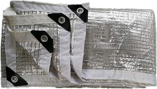 Garden - tarpaulin Maille d'isolation de Feuille d'aluminium Blanche de Prougeection Solaire de Feuille d'aluminium, différentes Tailles 140G   M2