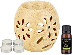 Farkraft Ethnic Handcrafted Aroma Diffuser | Oil Burner with Tealight Candle | Fragrance : Lemongrass
