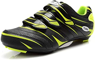 Tiebao Men Road Cycling Shoes Indoor and Outdoor Riding Bike Shoes Fitness Bicycle Shoes