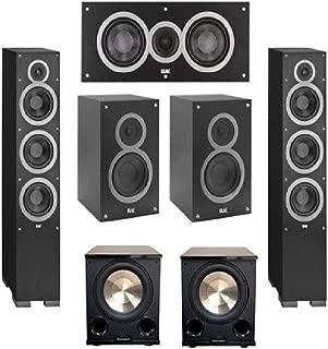 Elac 5.2 System with 2 Debut F6, 1 Debut C5 Center Speaker, 2 Debut B5, 2 BIC/Acoustech Platinum Series PL-200 II Subwoofer