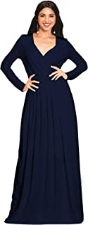 Womens Long Sleeve Empire Cocktail Elegant Evening Versatile Maxi Dress