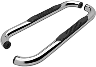 """TAC Side Steps Fit 1999-2016 Ford F250/350/450/550 Super Duty Regular Cab Truck Pickup 3"""" Stainless Steel Side Bars Nerf Bars Step Rails Running Boards Off Road Exterior Accessories (2 Pieces)"""