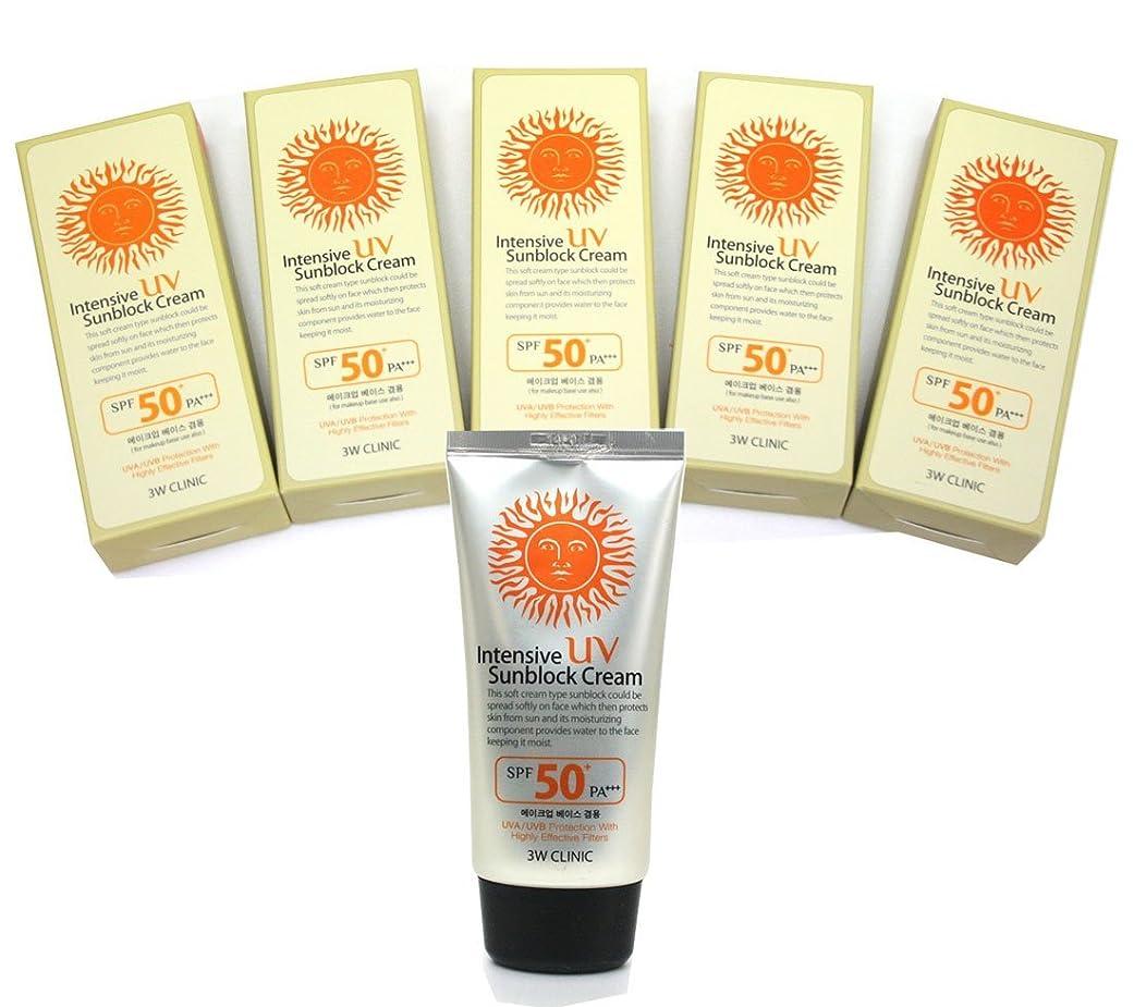 レディ仕えるシャツ[DODO 3w Clinic] インテンシブUV日焼け止めクリームSPF50 PA+++ 70ml * 5ea / Intensive Uv Sunblock Cream SPF50 PA+++ 70ml * 5ea / 補うベース使用 / For Make up Base Use Also / 韓国化粧品 / Korean Cosmetics [並行輸入品]