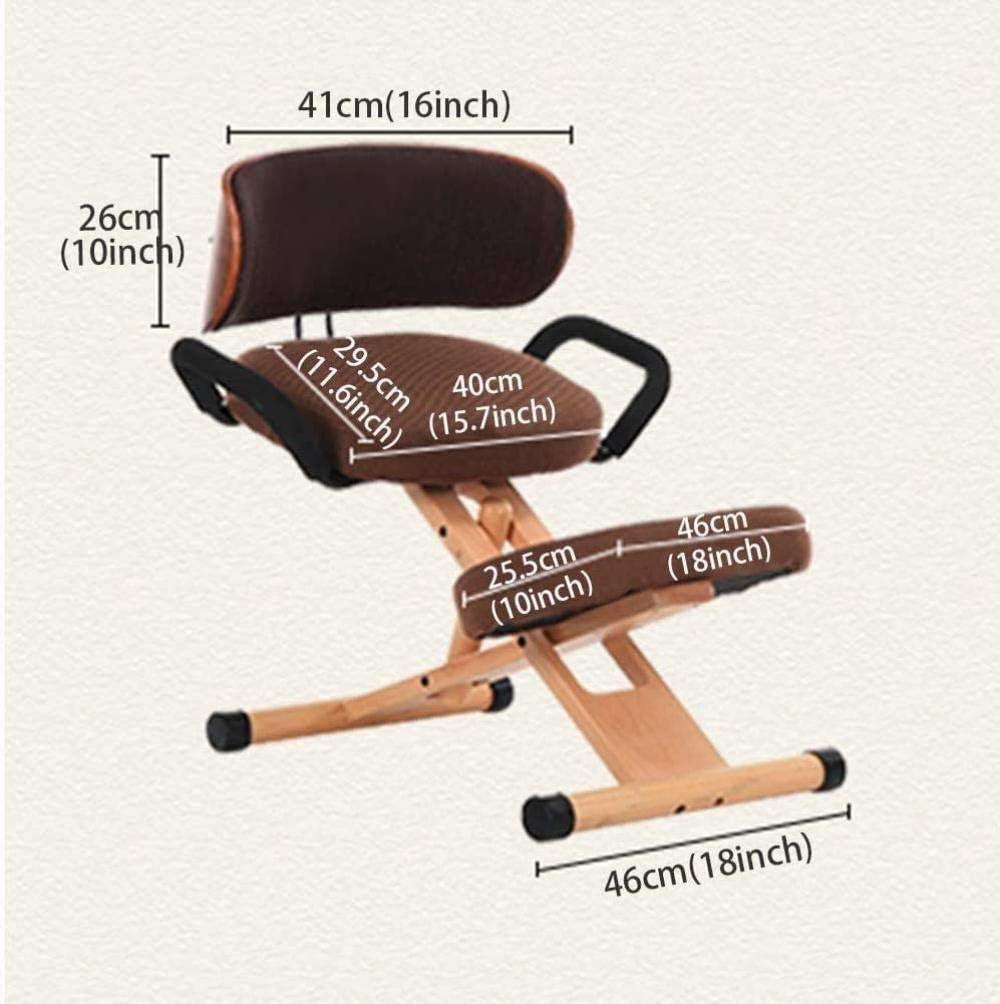 Fauteuil Ergonomique Genoux Chaises de bureau réglable Genoux chaises orthopédiques dossier Accoudoirs Posture Correction Kneel Tabouret Chaise tabouret (Color : Red) Red
