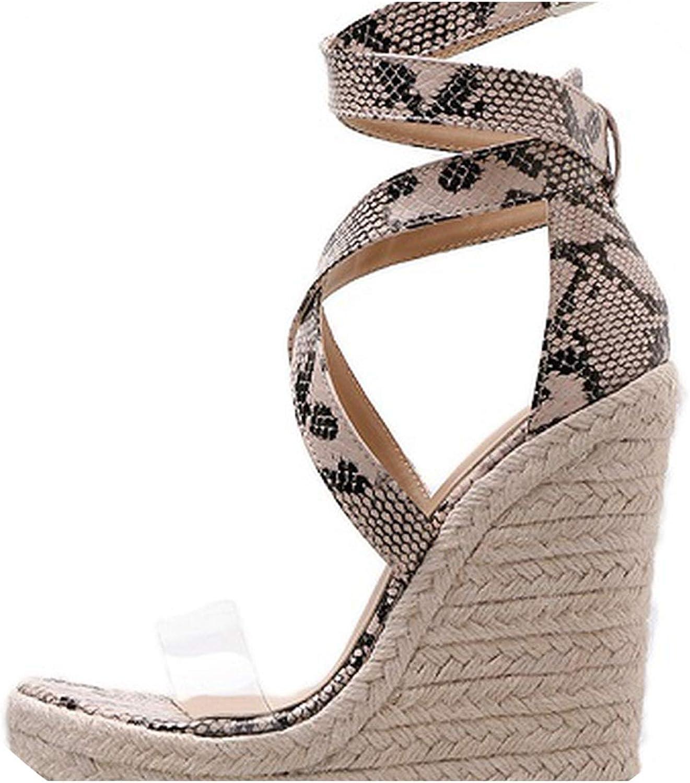 RAINIE002 Summer Women Sandals Gladiatorfashion High Heels Wedges Espadrilles shoes Ladies Open Toe Sandals Seentine