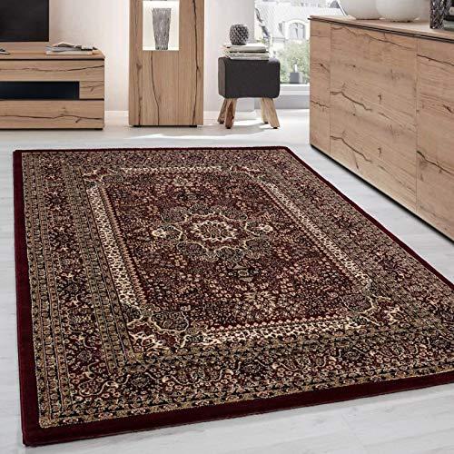 Orientteppich Klassischer Orientalisch Traditional Webteppich Rot Schwarz Beige - 200x290 cm