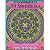 50 Mandalas Livre De Coloriage Adulte Pour Motif De Mandalas: mandalas, fleurs, motifs cachemire et bien d'autres choses encore