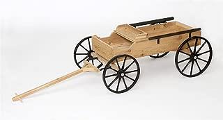 Rustic Cedar Buckboard Wagon Half-Scale Amish Made in USA
