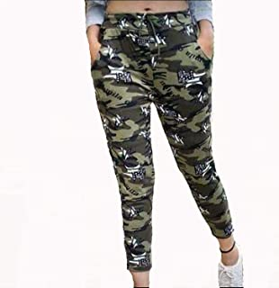 SWAMEY Women's/girls Army Style Joggers Lower Sports Gym Athletic Track, (Camouflage Print) Free Size Pack of 1