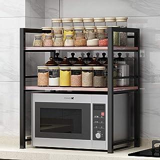 YLiansong-home Étagères étagères Cuisine Baker Rack en Acier Inoxydable 3 Niveau Micro-Ondes Support Support de Rangement ...
