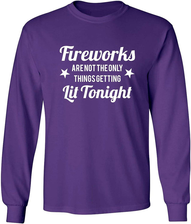 zerogravitee Fireworks.Getting Lit Tonight Adult Long Sleeve T-Shirt