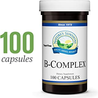 Nature's Sunshine Vitamin B-Complex, 100 Capsules | B Complex Vitamins Nourish The Nervous System and Help with Specific Enzyme Reactions