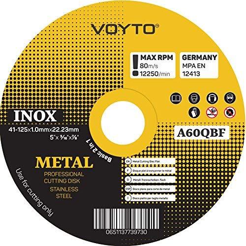 Discos de corte para sierra circular ultrafinos, 125 x 1 mm, juego de 10 unidades.