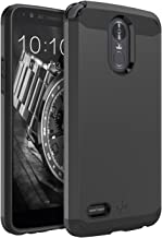 LK Case for LG Stylo 3, LG Stylo 3 Plus, [Gladiator Series] Shock Absorption Hybrid Armor..