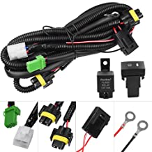 HUIQIAODS H11 880 881 H9 Fog Light Lamp Wiring Harness Socket Wire Connector With 40A Relay & ON/OFF Switch Kits Fit for LED Work Lamp Driving Lights Etc