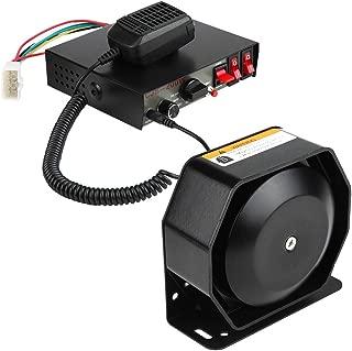 GrmeisLemc 7 Sounds Loud Horn Police Fire Car Warning Alarm 150dB Siren PA Speaker System