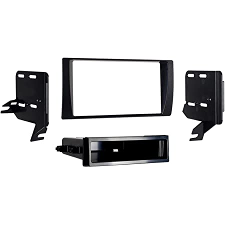 Carxtc Double Din Install Car Stereo Dash Kit for a Aftermarket Radio Fits 2003-2008 Toyota Corolla Trim Bezel is Black