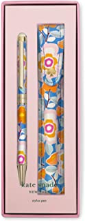 Kate Spade New York Black Ink Ballpoint Pen with Stylus Tip and Storage Pouch, Pop Floral
