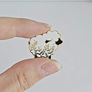 N-B Épinglette en émail épinglettes Badge Petite Broche de Mouton décoration Femmes Filles Cadeaux d'anniversaire