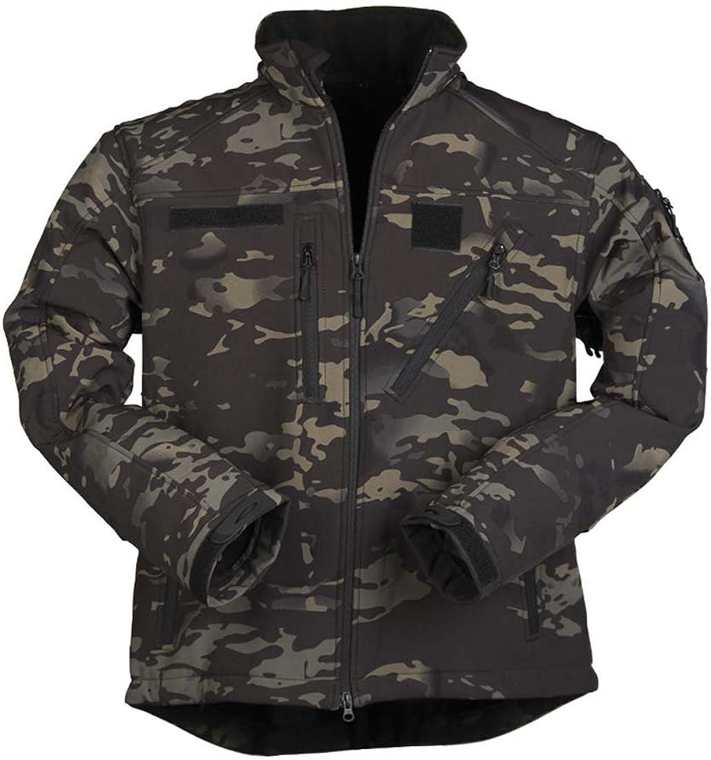Special Campaign Mil-Tec Men's Softshell Jacket SCU Multitarn Black XXL 14 5% OFF Size