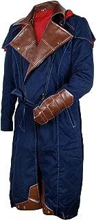 III-Fashions Assassin Arno Dorian Cosplay Hoodie Unity Costume Denim Cloak Blue Creed Trench Coat