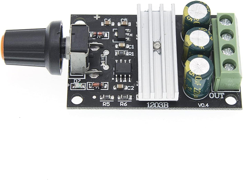 YSQSPWS condensadores electrolíticos DC 6V 12V 24V 28VDC 3A 80W PWM Controlador de Velocidad del Motor Regler Einstellbar Control de Velocidad Variable MIT Potenciómetro Suministros de Bricolaje