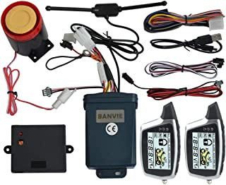 Tangxi Motorcycle Alarm System 12V Motorcycle Anti-Theft with Remote Control,125ddB Super Sound/& Flashing Lights Warning,5 Sensitivity Levels,Adjustable Universal for Most 12V Motorcycles