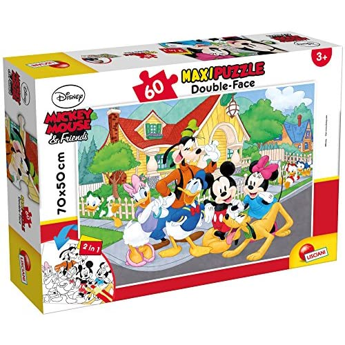 Lisciani Giochi Mouse & Friends Disney Puzzle Supermaxi 60, Mickey, Multicolore, 66728.0