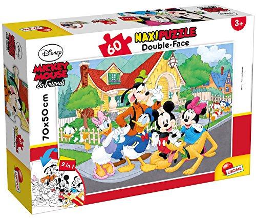 Liscianigiochi Mouse & Friends Disney Puzzle Supermaxi 60, Mickey, Multicolore, 66728.0