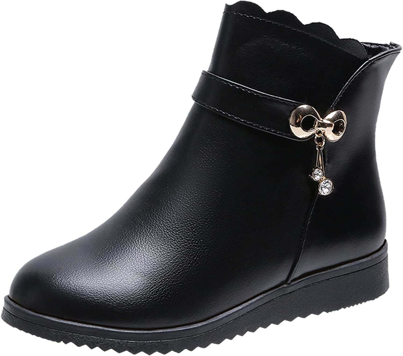 Pzhhzpingg Snow Boots for Women Metal Waterproof Buckl Slip 25% Max 57% OFF OFF Anti