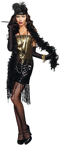 respuestas rápidas DreamGirl Dazzle Me Roaring 20's Flapper Adult Costume Costume Costume Large  conveniente