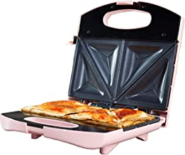Pink Sandwich toastie Maker Toasted Sandwich Maker, 750w Non-Stick Plates